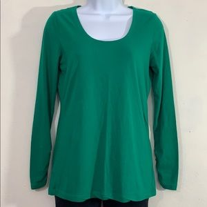A.n.a green scoop neck long sleeve t-shirt